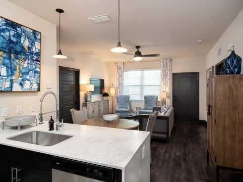 23West Gourmet kitchen with quartz countertop