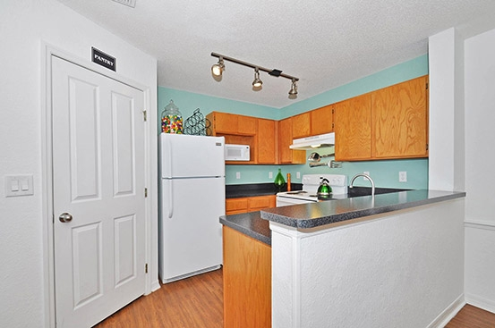 Campus Club Apartments Kitchen model