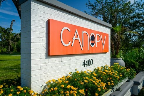 Canopy Apartments Sign