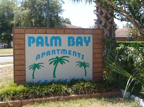 Palm Bay Apartments Entrance Sign