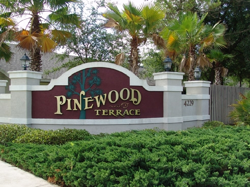 Pinewood Terrace  Entrance Sign