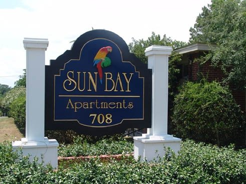 Sun Bay Apartments Entrance Sign