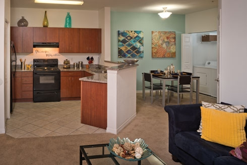 The Crossing at Santa Fe Apartments Kitchen and Living Space