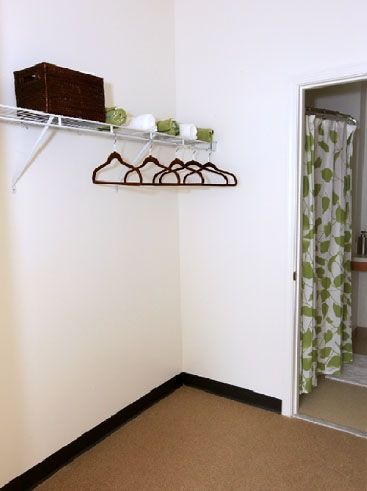 The Continuum Apartments Walk-in Closet