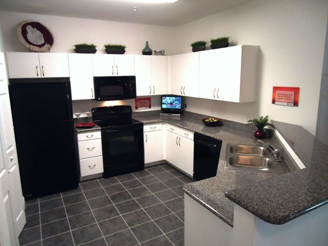 The Enclave Apartments Kitchen  with Granite Countertops
