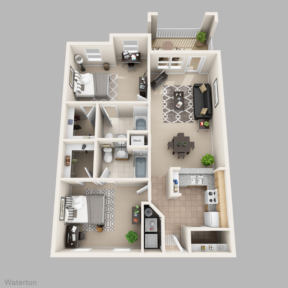 Lux 13 apartments in gainesville five minutes from uf for Apartments layout