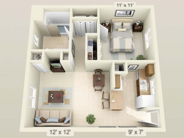 View Floor Plans. Fox Hollow Apartments in Gainesville   Unbeatable location